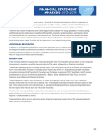 COL Financial Statement Analysis Guidelines