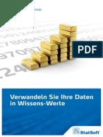 Firmenbroschüre StatSoft (Europe) GmbH