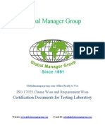 Documents for ISO 17025 Certification