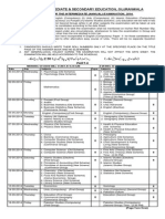 Date Sheet Inter Annual 2014