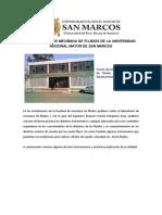 Informe de UNMSM - OBRAS Hidraulicas