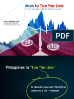 Philippines to Toe the Line