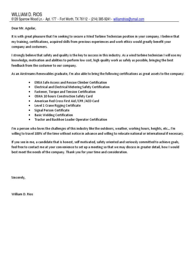 Rios william d 7 2 2014 cover letter and resume safety rios william d 7 2 2014 cover letter and resume safety technology 1betcityfo Image collections
