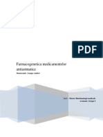 Farmacogenetica medicamentelor antiastmatice