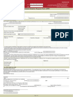 Dematerialisation Request Form Only for NRI