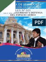 Ley de Seguridad y Defensa Del Espacio Aéreo - Cámara de Senadores