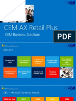 CEM AX Retail Plus - ERP solution for Retail Industry