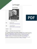 Ferdinand Von Wrangel. a Baltic Explorer