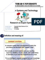 Information Systems and Technology Research on Expert Systems