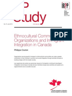 Ethnocultural Community Organizations and Immigrant Integration in Canada