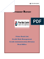 Internship Report Prime Bank