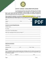St. Charles Rotary Club Scholarship Application