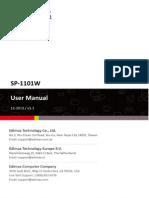 SP 1101W Manual