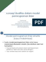 11 Konsep Dualitas Dalam Model Pemrograman Linier