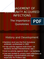MANAGEMENT OF COMMUNITY ACQUIRED INFECTIONS