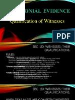 Testimonial Evidence Ppt