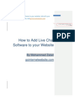 Live Chat Software, add it to your website