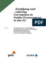Identifying Reducing Corruption in Public Procurement En