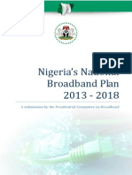 The Nigerian National Broadband Plan 2013