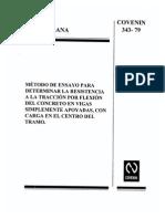 Concreto Ensayo Vigas Traccion Centro 0343-1979