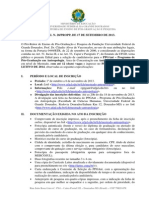 Edital 28 2013 Selecao Candidatos Turma 2014 Mestrado ANTROPOLOGIA