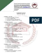 Comisii de Evaluare Şi Săli de Susţinere Examen de Licentă 20131