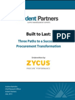 Three Paths to a Successful Procurement Transformation