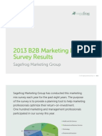 2013 Sagefrog B2B Marketing Survey