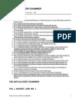 The Anti-Slavery Examiner, Omnibus by American Anti-Slavery Society