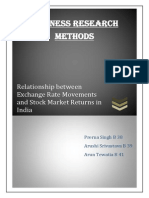 Report on Relationship Between Exchange Rate Movements and the Stock Market Returns in India