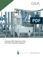 Compact Milk Pasteurizer Units Brochure