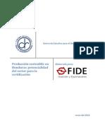 Produccin Sostenible en Honduras Potencialidad Del Sector Para La Certificacin - FIDE - Junio 2012