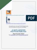 A qué llamamos Políticas Públicas - Miguel González Madrid (Versión TSJD)