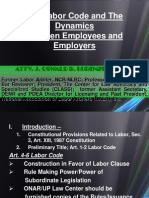 The Labor Code and the Dynamics