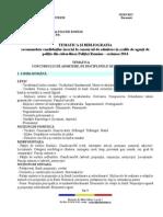Tematica Si Bibliografia Scolile de Agenti 2014
