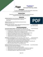 riggs resume 7 13 14