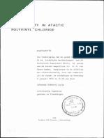 Crystallinity in Atactic Polyvinyl Chloride