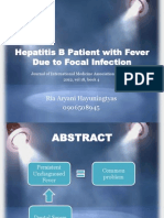 Hepatitis B Patient With Fever Due to Focal