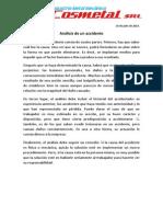 18 -Análisis de Un Accidente - 18 de Julio de 2014