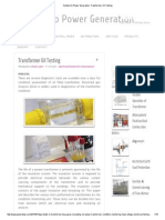 Solution to Power Generation_ Transformer Oil Testing