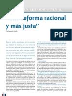 """""""Una reforma racional y más justa"""""""