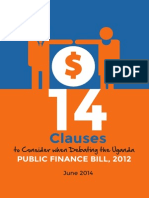 14 Clauses to Consider When Debating Uganda Public Finance Bill, 2012