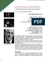 Léonard de Vinci Et Le Bal Des Planètes - Actualités - Château Du Clos Lucé