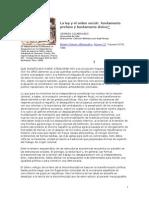 COLMENARES, Germán. La Ley y El Orden Social
