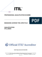 The ITIL Managing Across the Lifecycle Certificate Syllabus v5.2
