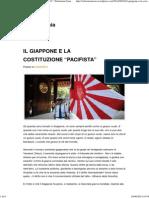 """Il Giappone e La Costituzione """"Pacifista"""" _ Sebastiano Isaia"""