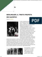 Berlinguer, Il Tristo Profeta Dei Sacrifici _ Sebastiano Isaia