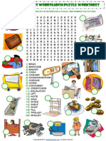 Shopping Words Wordsearch Puzzle Vocabulary Worksheet