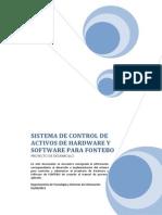Propuesta Sistema de Control de Activos de Hardware y Software Para Fontebo