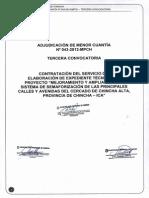 Expediente Tecnico Mejoramiento y Ampliacion Semaforizacion de Chincha-ica